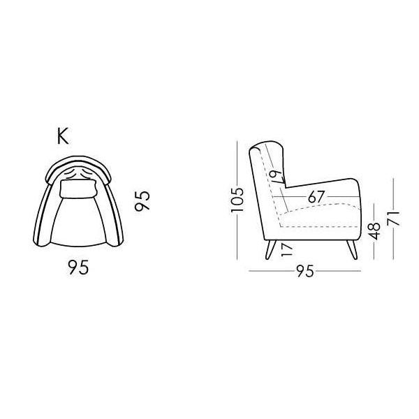 Spectacular armchair | SIMONE - Drawing - Spectacular armchair | SIMONE