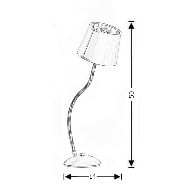 Modern touch table lamp with shade | FLEX - Drawing - Modern touch table lamp with shade | FLEX