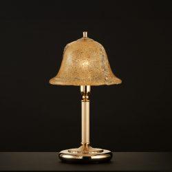 Πορτατίφ μπρούτζινο με κρύσταλλο Μουράνο BELLA brass table lamp handmade Murano crystal