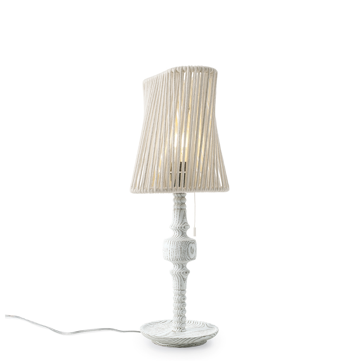 Ξύλινο φωτιστικό με κορδόνι TIMBER wooden table lamp