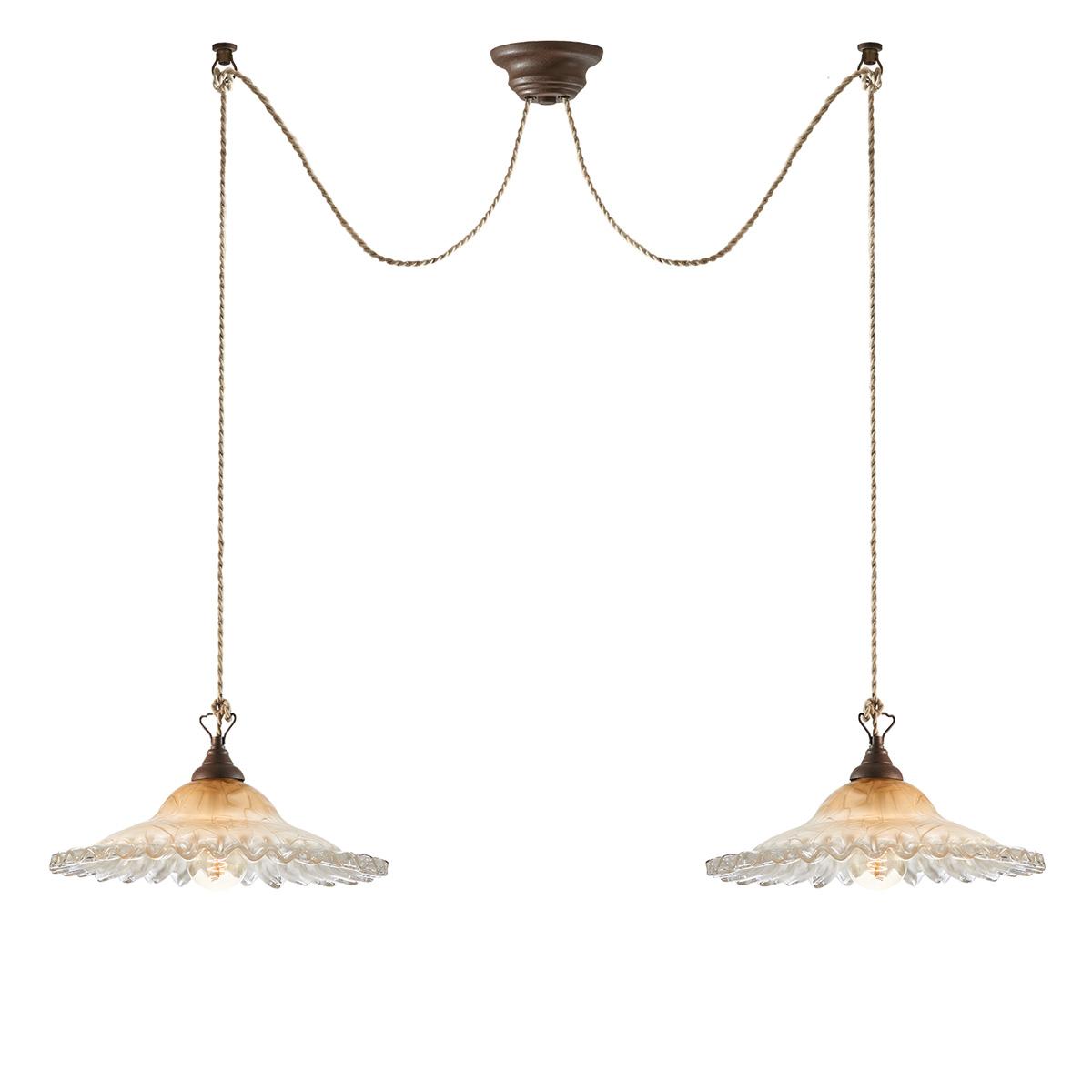 Δίφωτο παραδοσιακό φωτιστικό ΣΥΡΟΣ 2-bulb vintage lighting