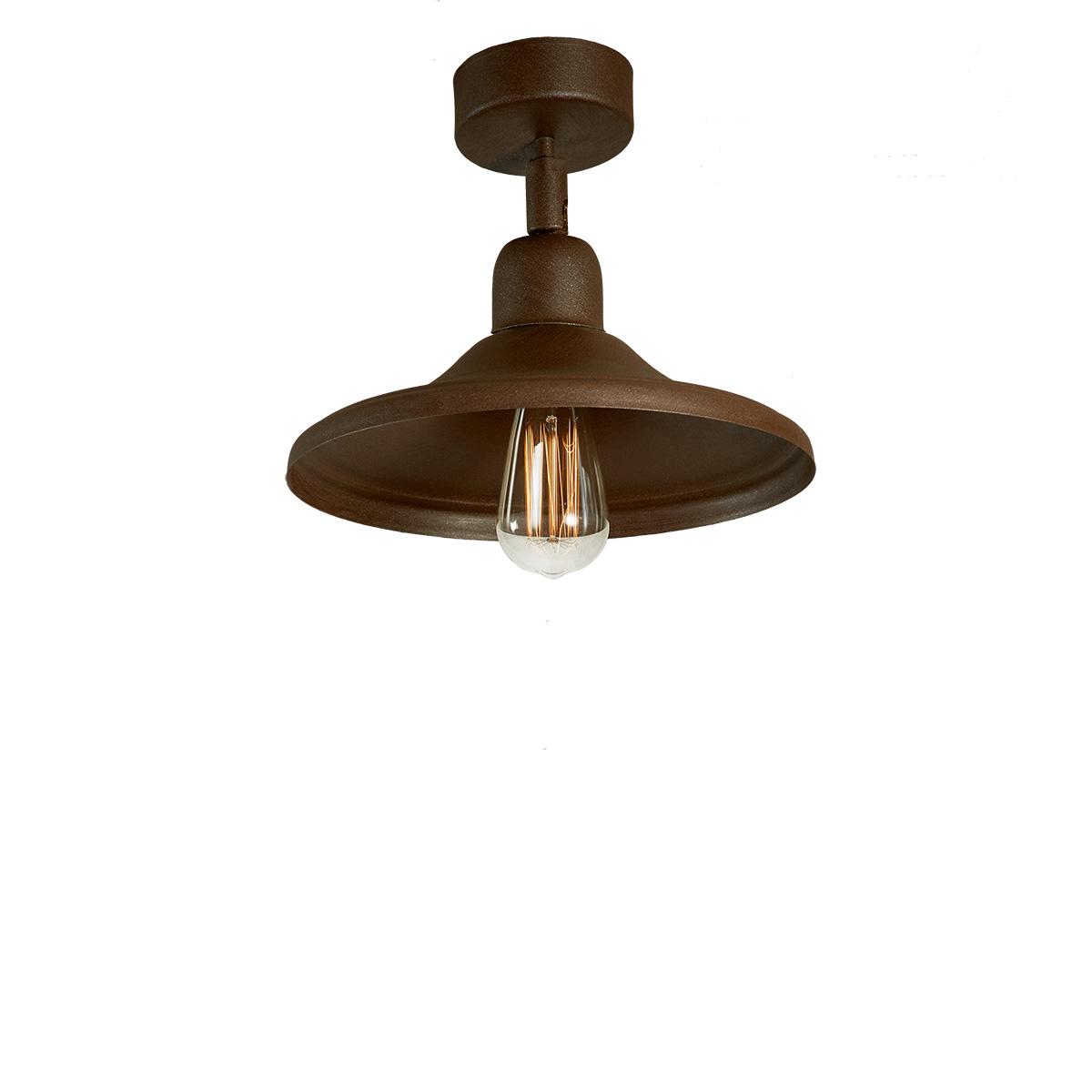 Φωτιστικό οροφής σπαστό σε καφέ πατίνα ΙΟΣ brown patinated ceiling lamp