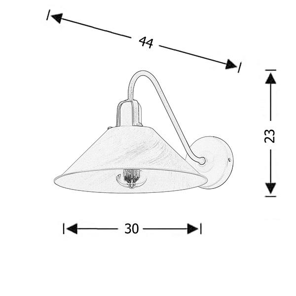 Handmade wall lamp | MILOS - Drawing - Handmade wall lamp | MILOS