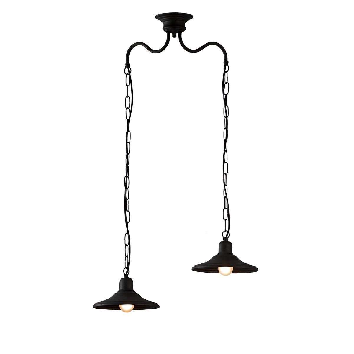 Παραδοσιακό φωτιστικό σε πατίνα γραφίτη ΙΟΣ graphite patinated retro chandelier