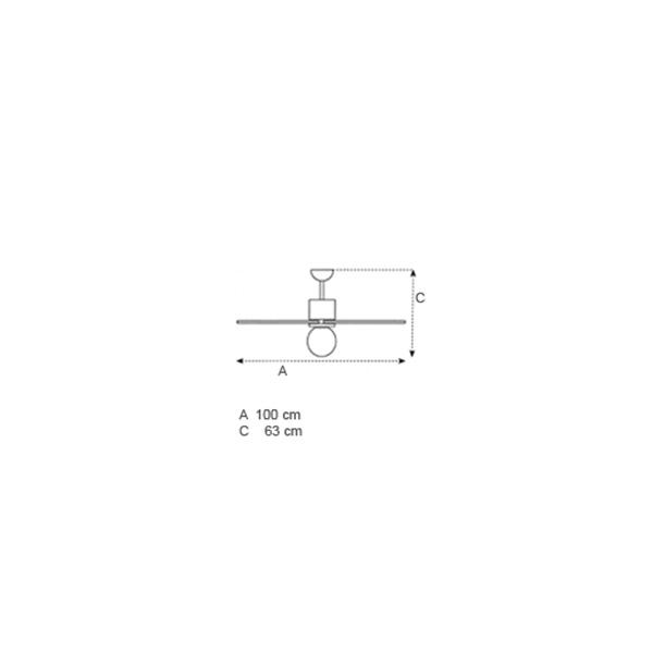 Ceiling fan | SOFFIO ECO - Drawing - Ceiling fan | SOFFIO ECO