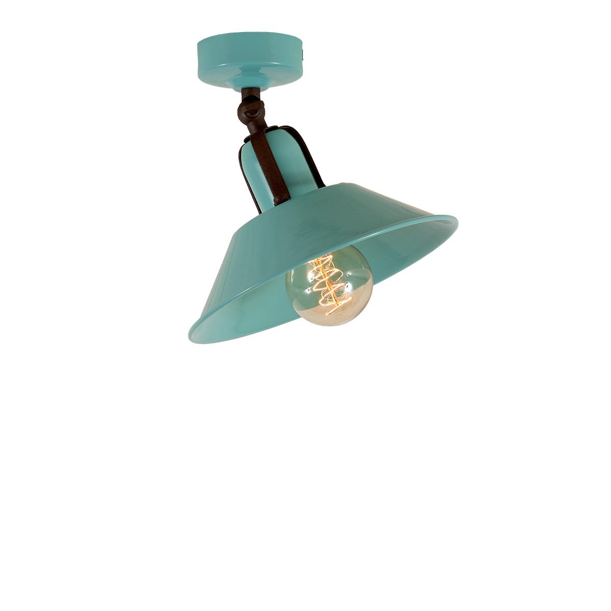 Φωτιστικό οροφής σπαστό βεραμάν ΜΗΛΟΣ retro ceiling lamp pastel turquoise