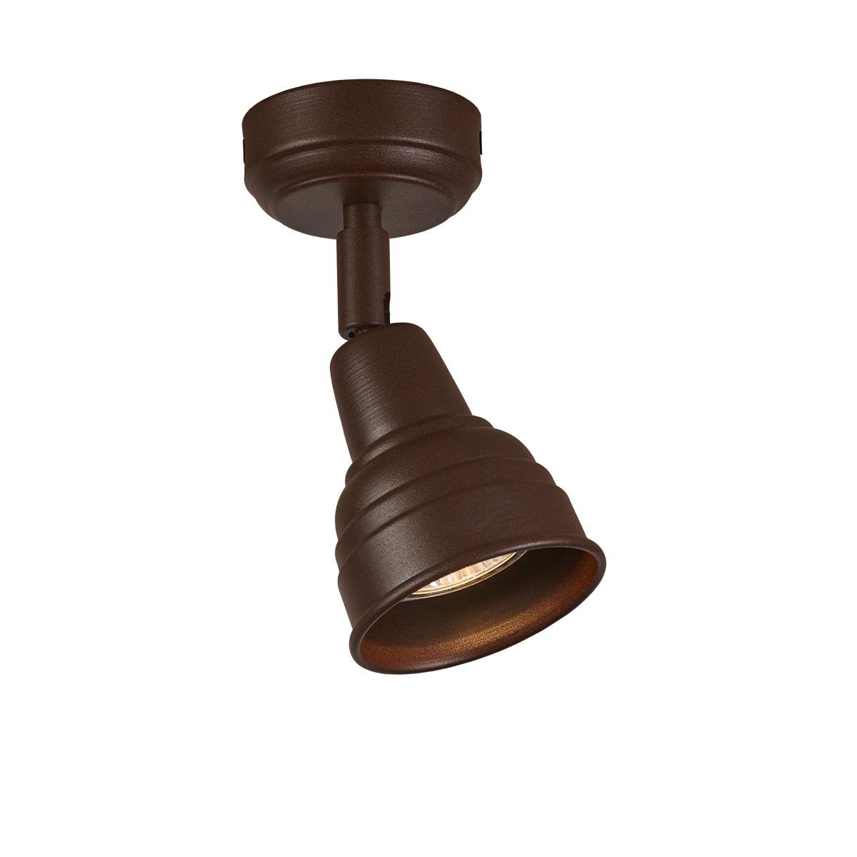 Ρουστίκ σποτ σε καφέ πατίνα ΙΟΣ brown patinated rustic spotlights