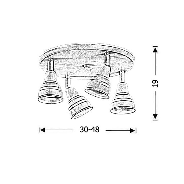 Rustic ceiling spotlight | IOS - Drawing - Rustic ceiling spotlight | IOS