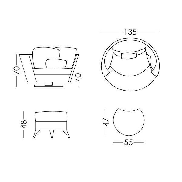 Modern armchair | MY NEST - Drawing - Modern armchair | MY NEST