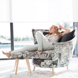 Στριφογυριστή πολυθρόνα VOLTA swivel freely armchair