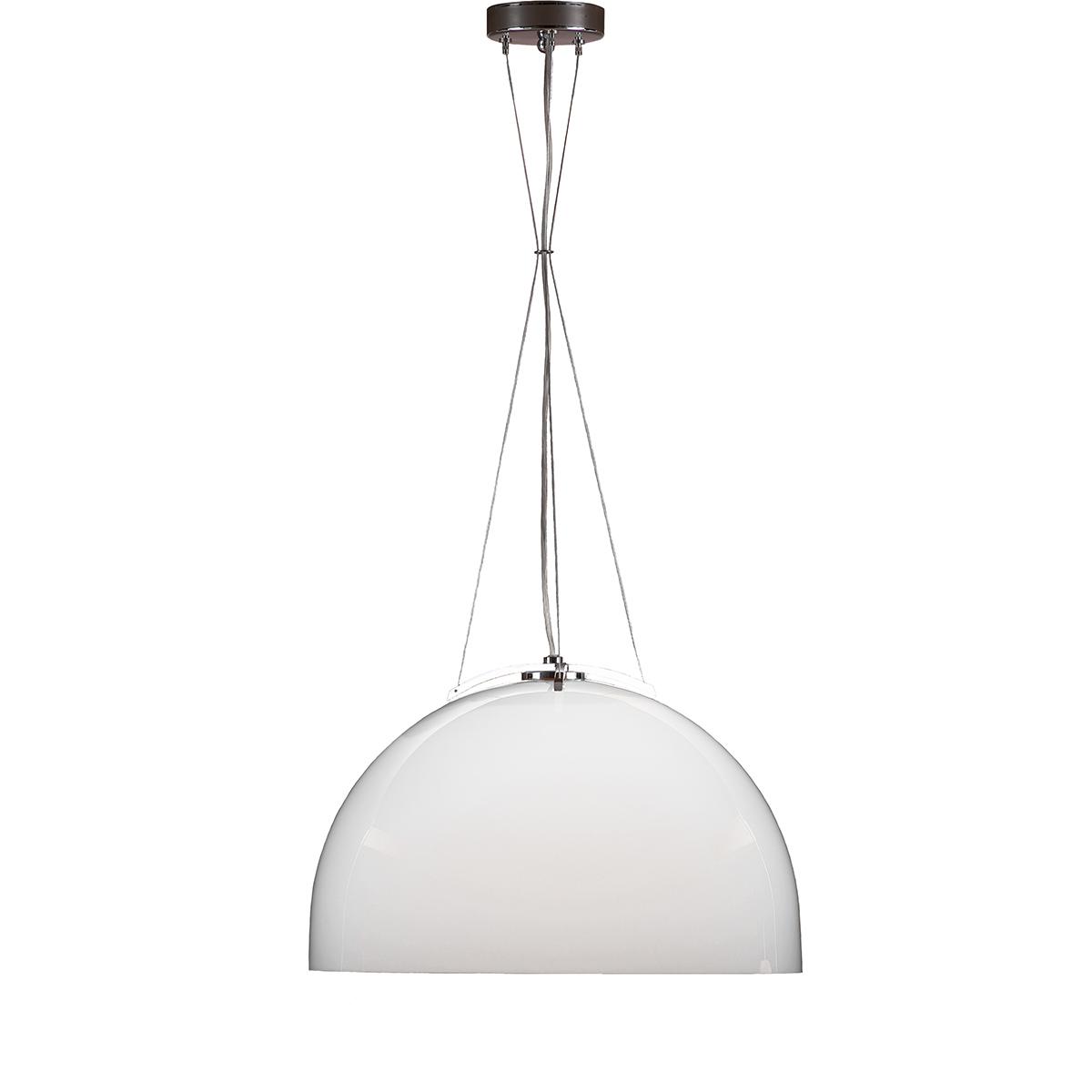 Μοντέρνο φωτιστικό Μουράνο λευκό MARS modern white Murano suspension lamp