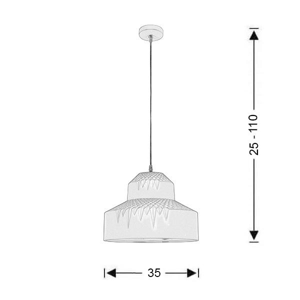 Κρεμαστό κεραμικό μονόφωτο | EDRUM - Σχέδιο - Κρεμαστό κεραμικό μονόφωτο | EDRUM