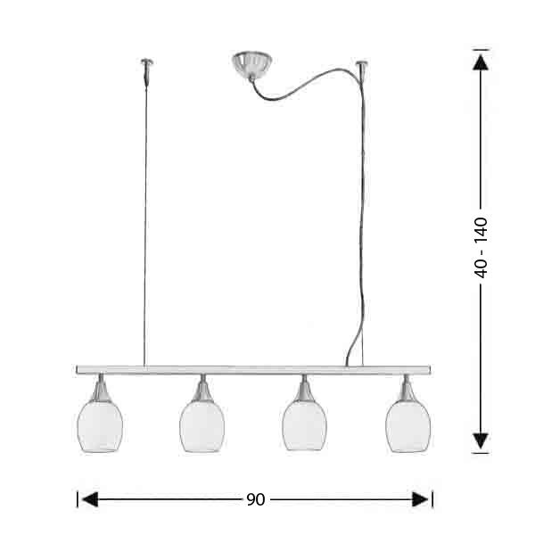 Modern rail lamp | LINES - Drawing - Modern rail lamp | LINES