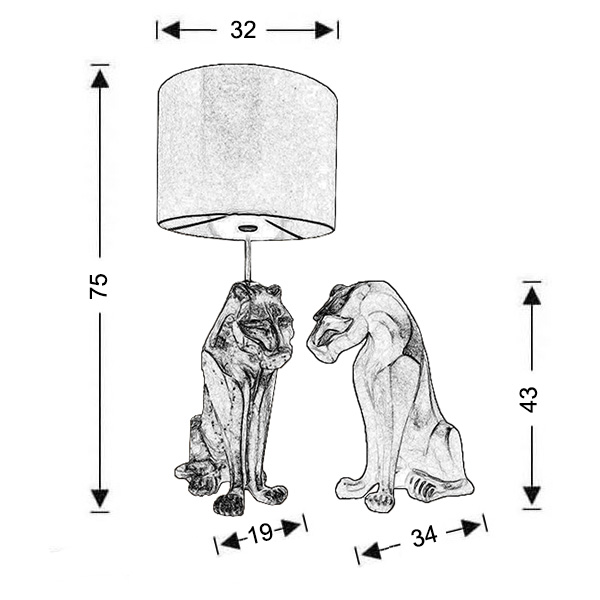 Table lamp | PANTHER - Drawing - Table lamp | PANTHER