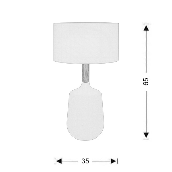 Ceramic table lamp | DUO collection - Drawing - Ceramic table lamp | DUO collection