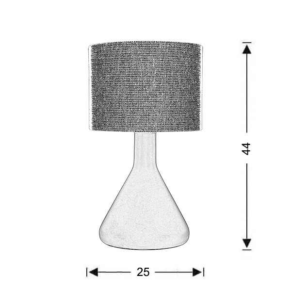 Blue table lamp | LAB - Drawing - Blue table lamp | LAB