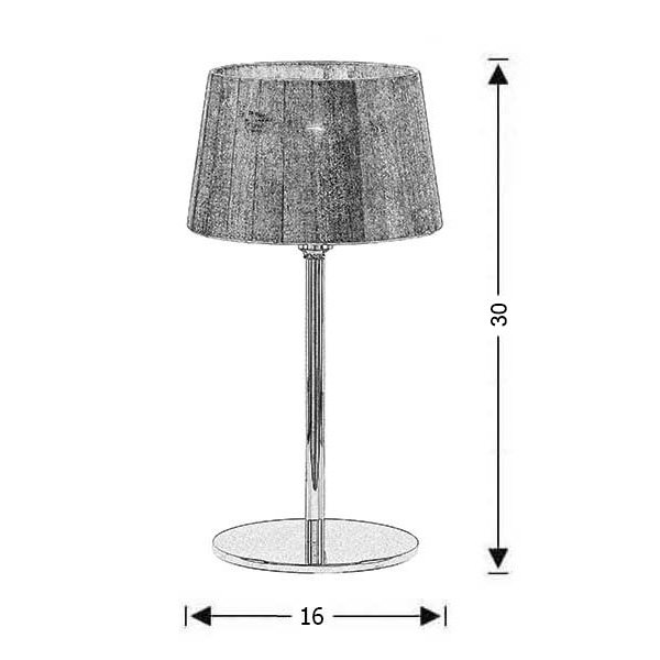 Modern table lamp small | ORGANZA - Drawing - Modern table lamp small | ORGANZA