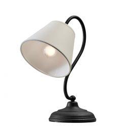 Ρουστίκ επιτραπέζιο φωτιστικό σε γραφίτης πατίνα ΝΑΞΟΣ-2 graphite patinated table lamp