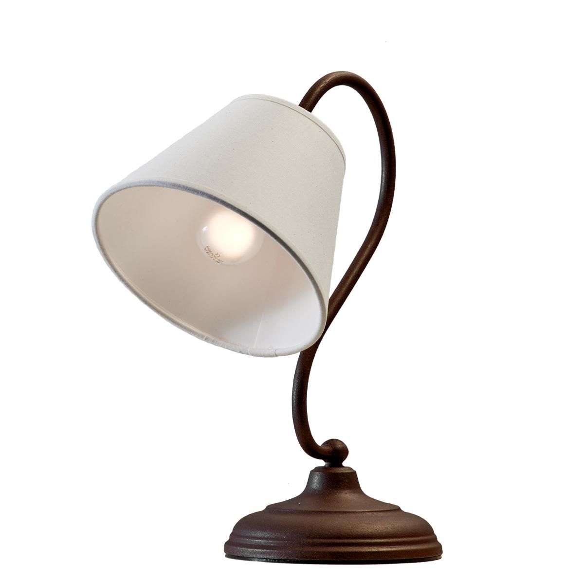 Ρουστίκ επιτραπέζιο φωτιστικό σε καφέ πατίνα ΝΑΞΟΣ-2 brown patinated table lamp