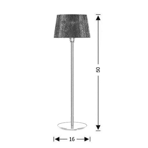 Modern table lamp large | ORGANZA - Drawing - Modern table lamp large | ORGANZA