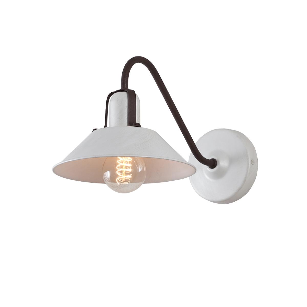 Ρετρό επιτοίχιο φωτιστικό σε λευκή πατίνα ΜΗΛΟΣ white patinated retro wall lamp