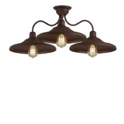 Φωτιστικό οροφής σε καφέ πατίνα ΙΟΣ brown patinated ceiling lamp