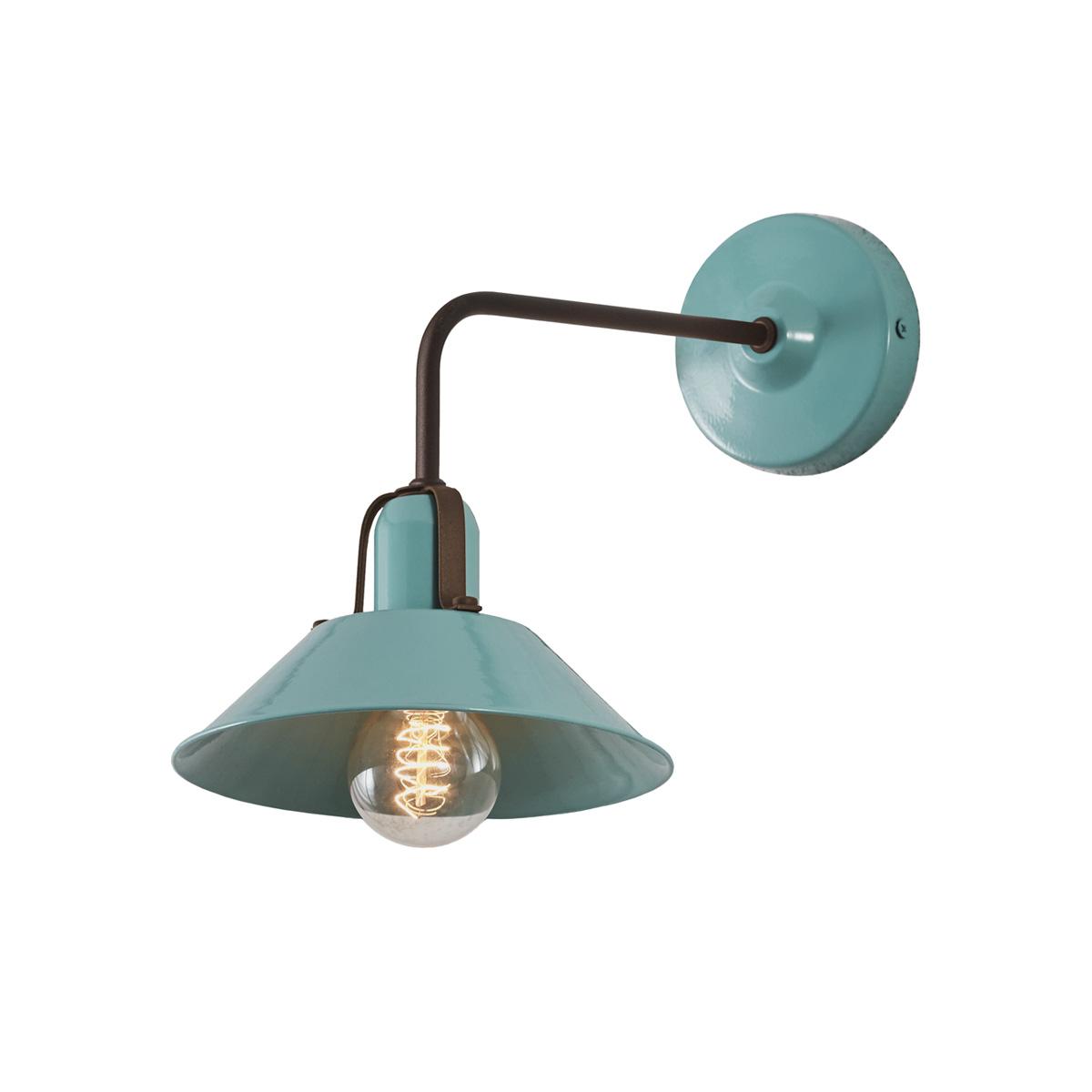 Vintage βεραμάν απλίκα ΜΗΛΟΣ vintage pastel turquoise wall lamp