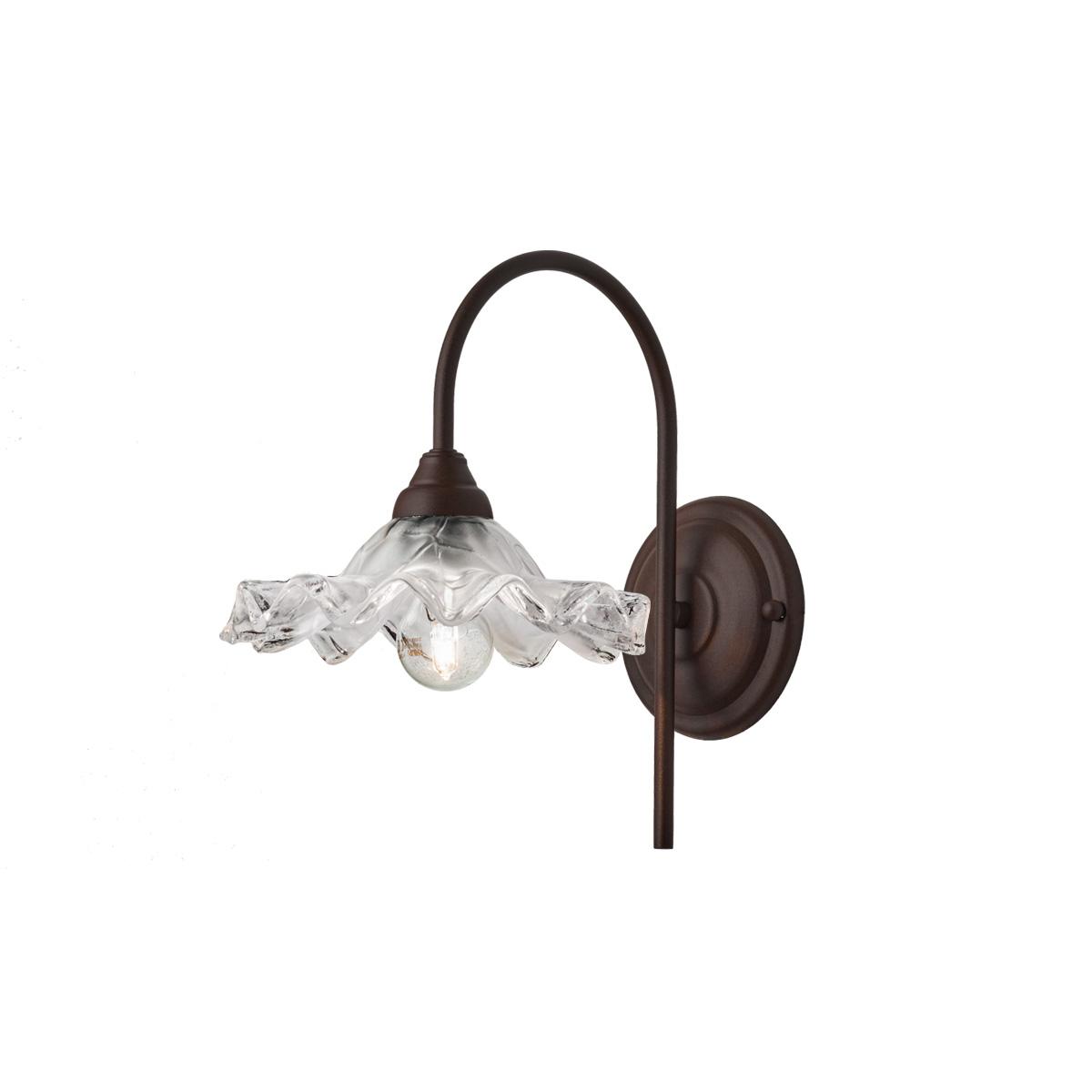 Απλίκα σκουριά με γυαλί ΣΥΡΟΣ rusty wall lamp with glass shade