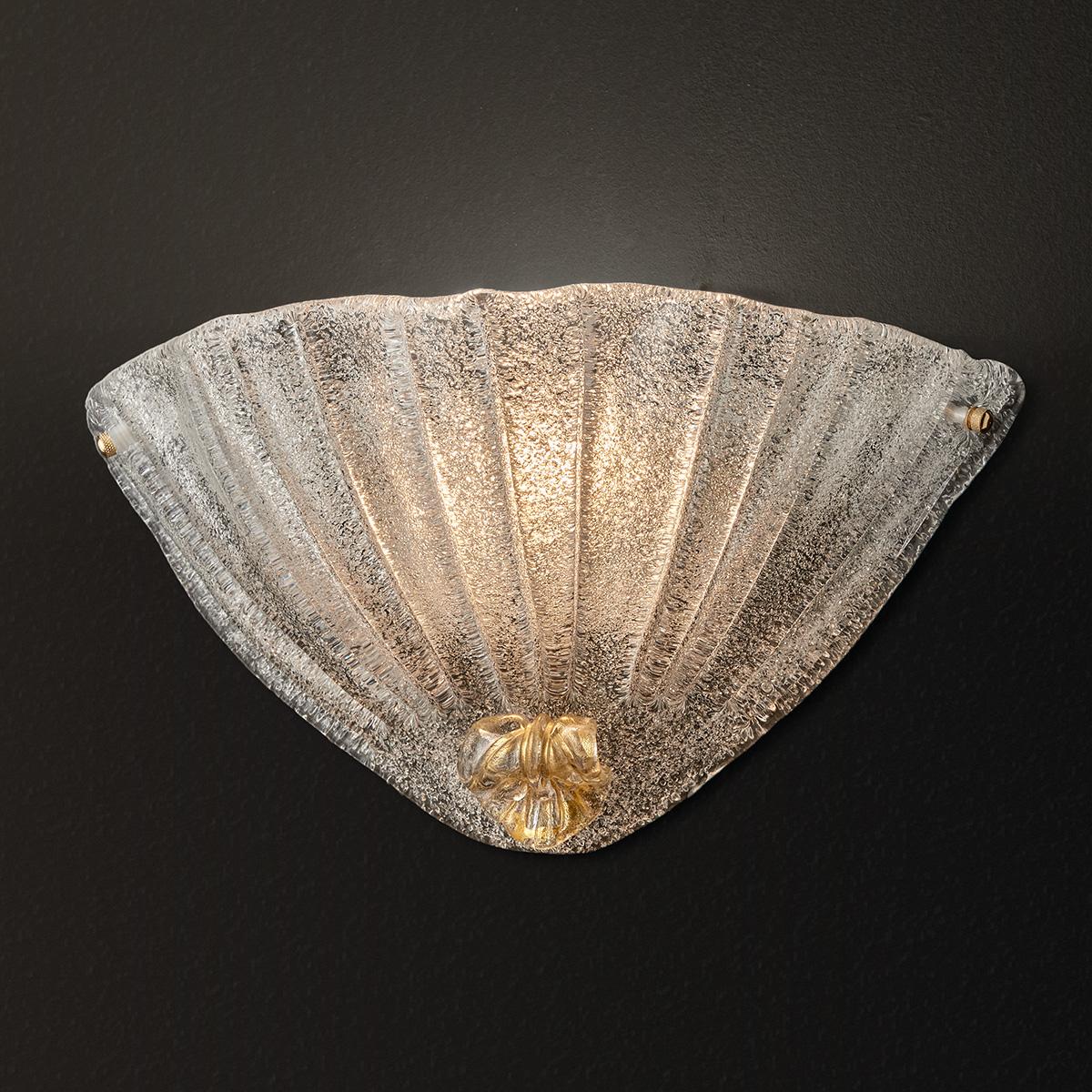 Κλασική απλίκα από κρύσταλλο Μουράνο ΦΥΛΛΟ classic Murano crystal wall lamp