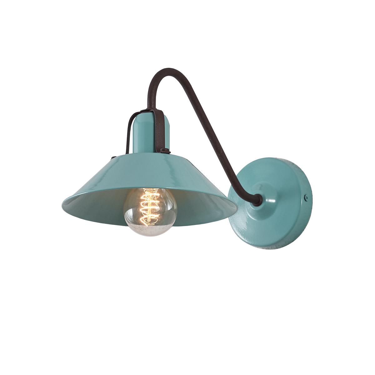 Ρετρό επιτοίχιο φωτιστικό βεραμάν ΜΗΛΟΣ pastel turquoise retro wall lamp