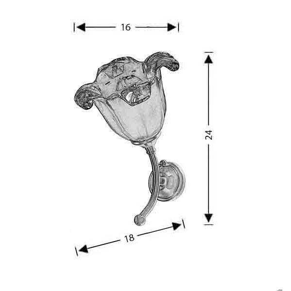 Απλίκα με κρύσταλλο Murano | ΝΥΜΦΑΙΟ - Σχέδιο - Απλίκα με κρύσταλλο Murano | ΝΥΜΦΑΙΟ