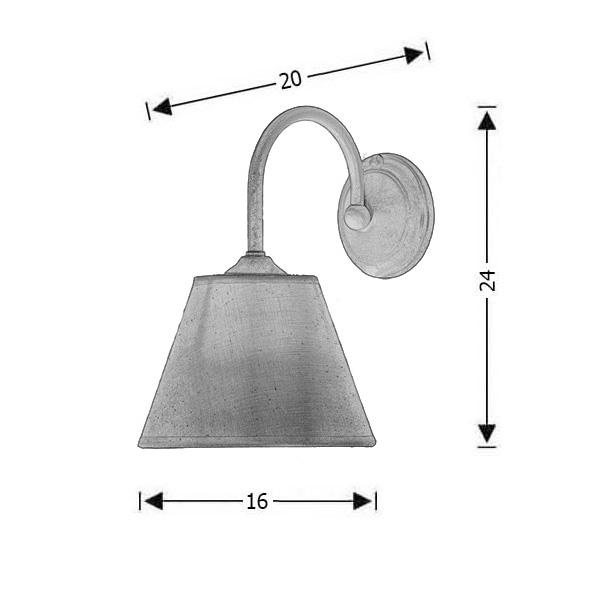 Wall lamp with shade | NAXOS-2 - Drawing - Wall lamp with shade | NAXOS-2