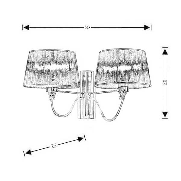 Modern wall lamp | ORGANZA - Drawing - Modern wall lamp | ORGANZA