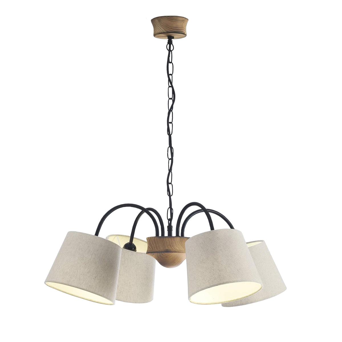 Φωτιστικό με ξύλο και μέταλλο BAMBOO light fixture with wood and metal
