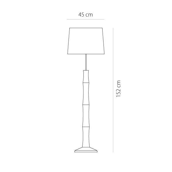 Wooden floor lamp | BAMBOO - Drawing - Wooden floor lamp | BAMBOO