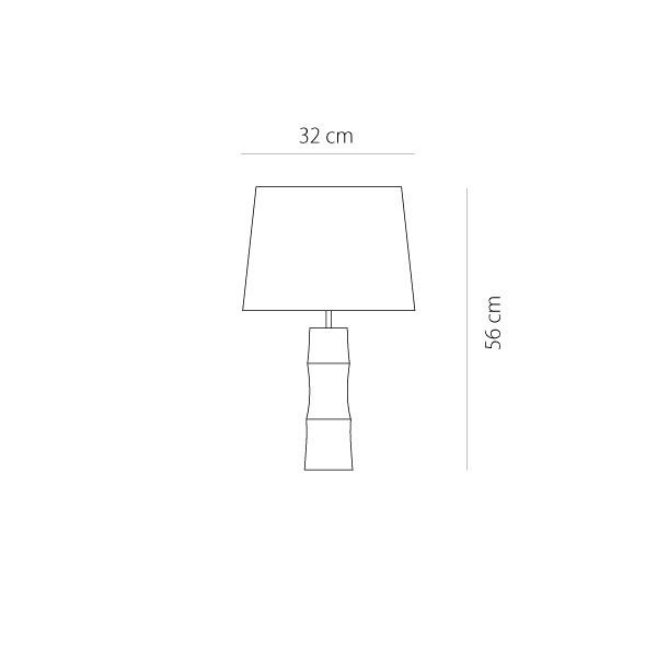 Ξύλινο επιτραπέζιο φωτιστικό | BAMBOO - Σχέδιο - Ξύλινο επιτραπέζιο φωτιστικό | BAMBOO
